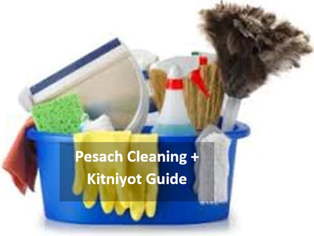 Pesach cleaning and kitniyot guide