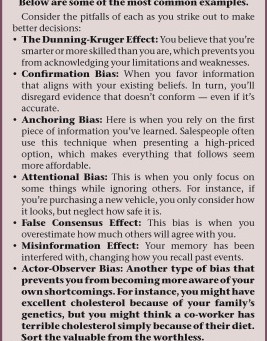 Expose Cognitive Biases For What They Are