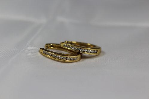 Diamond Channel Set Earrings