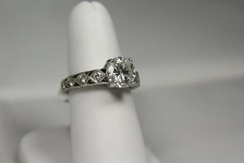 Diamond Vintage Style Engagement Ring