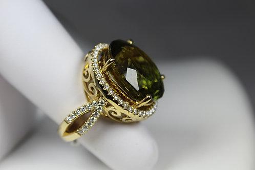 Green Ametrine Ring