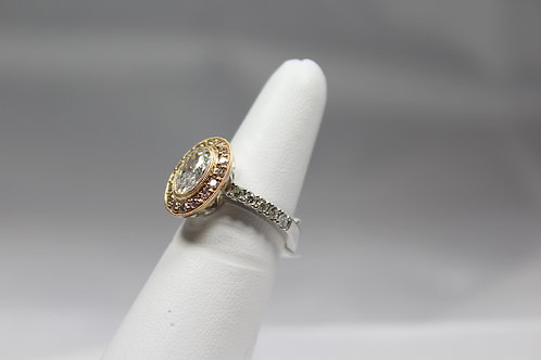 Diamond Rose Gold Halo Ring