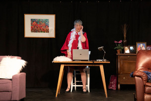 Sandy Gulliver actor as Kathy Ann in Old Ringers with The 2nd Act Players
