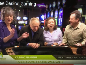 Sandy Gulliver actor in commercial for Menomonee Falls Casino with Joyce Porter and Walter Sloan