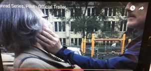Sandy Gulliver in Conrad trailer with Kevin Lingle
