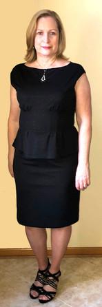 Ann Myrna black cocktail dress