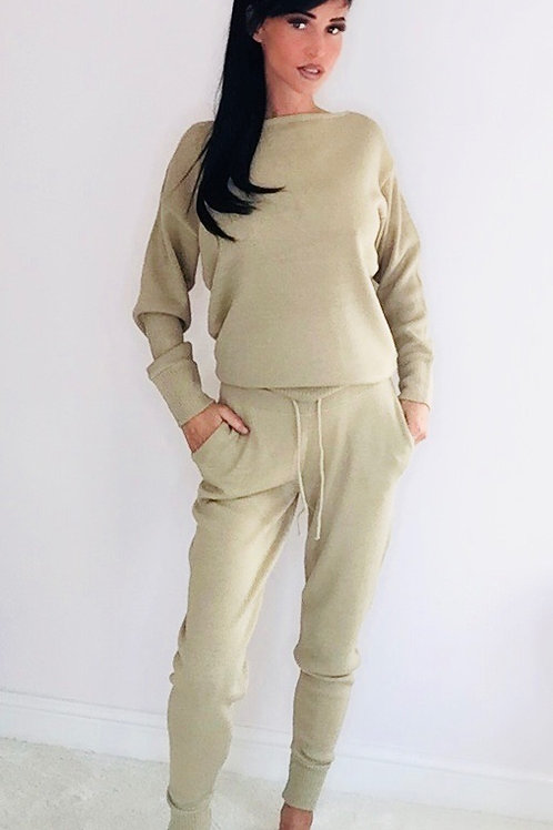Scoop Neck Knitted Lounge Co-ord Set