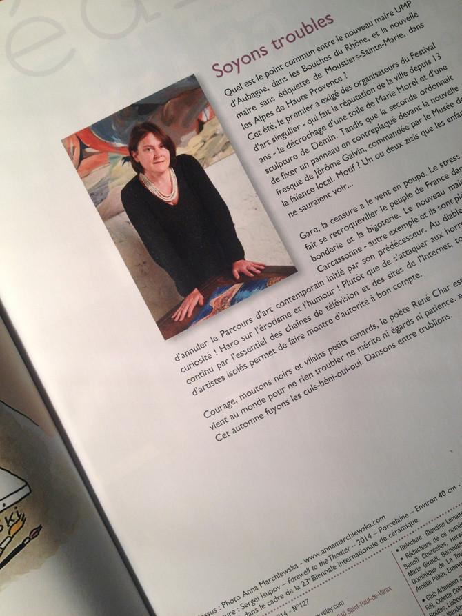 Le portrait de Françoise Monnin dans le n°127 d'Artension