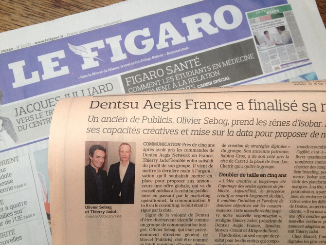 Pour la première fois dans Le Figaro