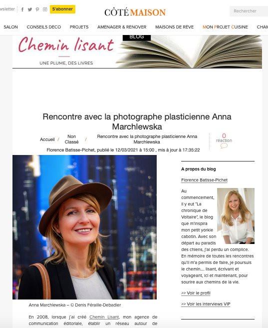 Interview dans Côté Maison