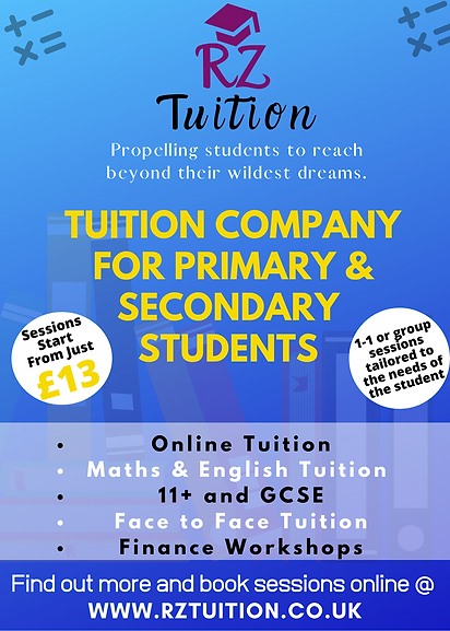 Blue and Yellow Illustrated Tutor Flyer.