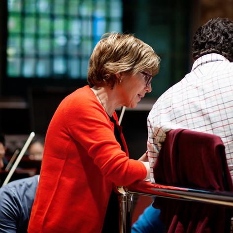 Neil and Cecilia McDowall, Da Vinci Requiem rehearsal, May 2019
