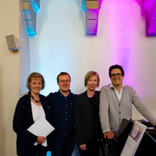 Choral Inspirations workshop, Newcastle, July 2019. Neil with Janet Wheeler, Michael Higgins and Joanna Marsh