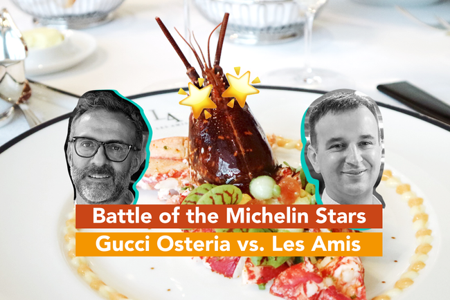 Battle of the Michelin Stars - Les Amis vs. Gucci Osteria by Massimo Buttora