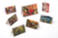 Calendario de escriorio con postales