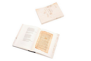 Libro de arte Manuscrito del conquistador con contenedor - interiores