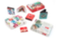 Cajas de regalo en carton y pasta dura, con reloj y cartera para varios editoriales