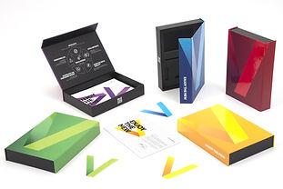 Cajas contenedores en pasta dura en 5 diferentes modelos y colores Enjoy The New
