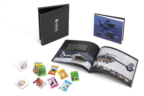 Caja con libro y juego