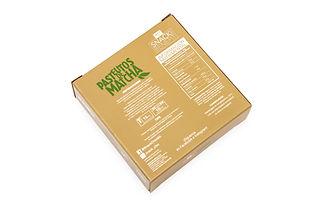 Empaque para pastelitos de Matcha Snack Benefit - reverso