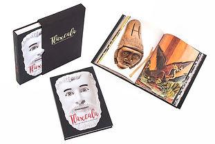 Libro de arte Casa Artesanias Tlaxcala con contenedor