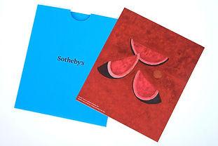 Invitación en carton - pasta dura, con sobre impreso en serigafía