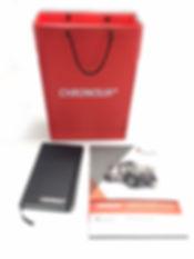 Bolsa de tyvek Impresa en digital con Libreta tipo molskine y folleto muestrario de Holcim Chronolia.