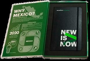 Contenedor con Libreta Accenture Ingles