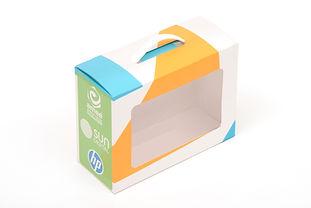 Caja impresa en sustrato blando con suaje y personalizado.
