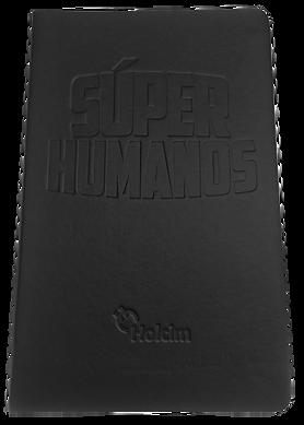 Libreta tipo molskine color negra Súper Humanos Holcim.