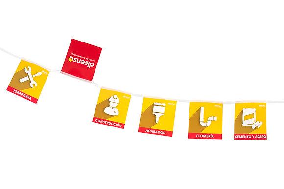 Banderines DisensaTu Red de Construcción