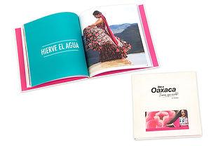 Dossier campaña promoción Secretaría de Turismo de Oaxaca con papel especial.