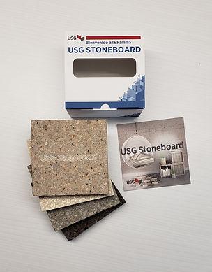 Caja contenedor con muestras de mano Stone Board.
