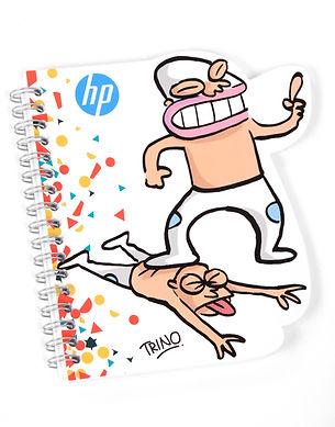 Libreta con wire-o caricatura de Trino HP