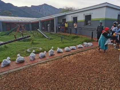 Food parcels provided for ECD families