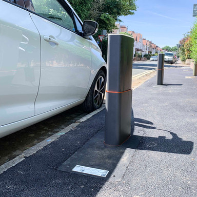 First of its kind pop up EV charging point trialled on UK street