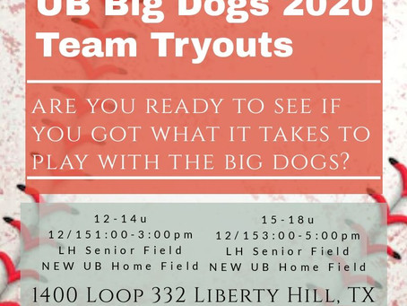 2020 Spring & Summer Team Tryouts