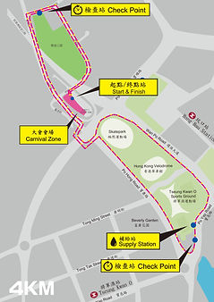 Monchhichi x 為食跑2019_4公里路線