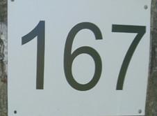 Таблички с номерами участков