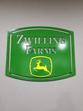 Zwilling Farm Sign