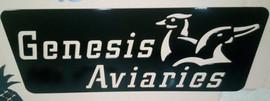 Genesis Aviaries Sign
