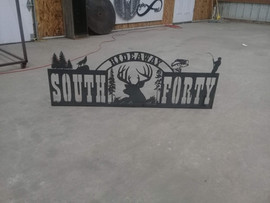 South Forty Hideaway Sign