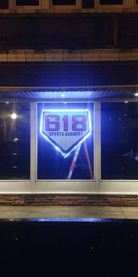 618 Sports Academy Sign