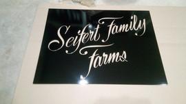 Seifet Farm Sign