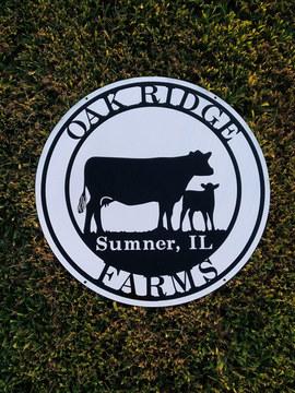 Oak Ridge Farm Sign