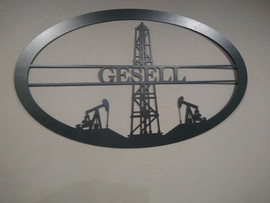 Oil Field Last Name Sign