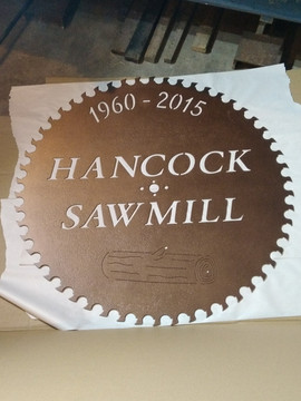 Hancock Sawmill Sign