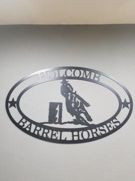 Last NameBarrel Horses Sign