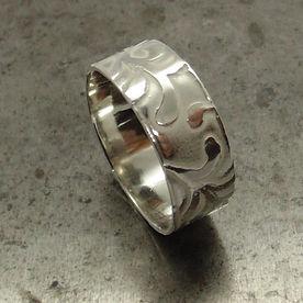 Seaweed design, sterling silver ring.jpg