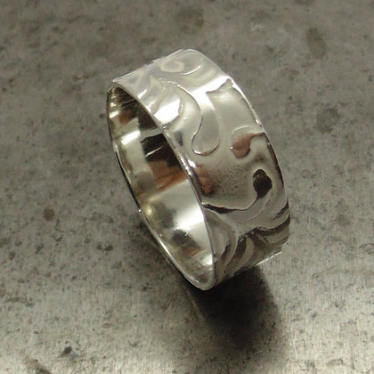 Silver Seaweed Ring